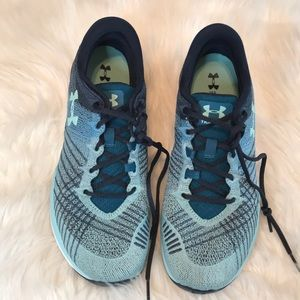 UNDER ARMOR blue women's training shoes size 9.5